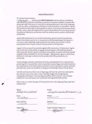 Calaméo - Actor Release Form