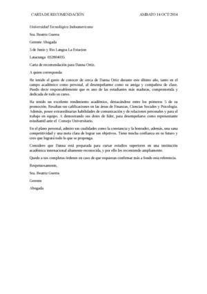 Calaméo - Carta De Recomendacion