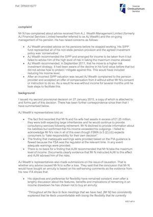 Calaméo - DRN0516277 Final decision Roy Milne Financial ombudsman - financial ombudsman complaint form