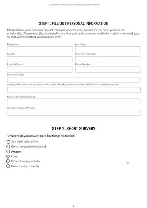Calaméo - Couponbirds Scholarship Application Form