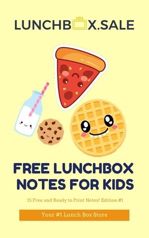 Calaméo - FREE Printable Lunch Box Notes For Kids #1