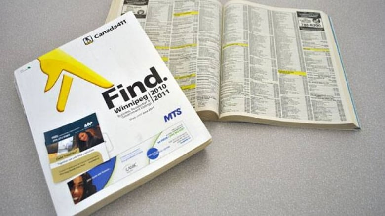 White Pages delivery dropped CBC News