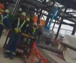 Foreign workers at Husky Sunrise