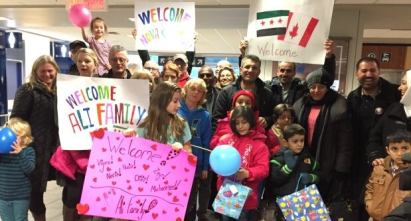 Syrian refugees welcomers.