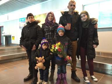 The father of four said he's thankful to be in Thunder Bay with his family after escaping war-torn Syria.