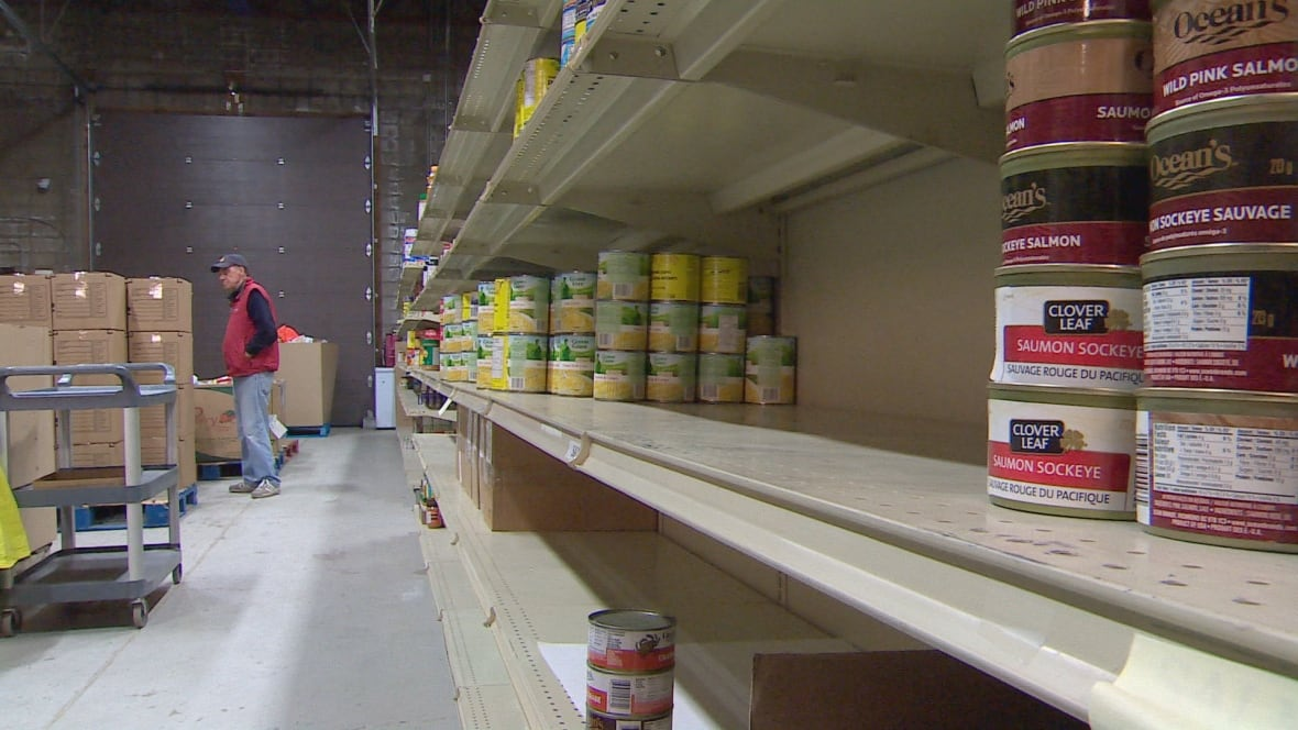 Once Bare Shelves At Calgary39s Veterans Food Bank Now