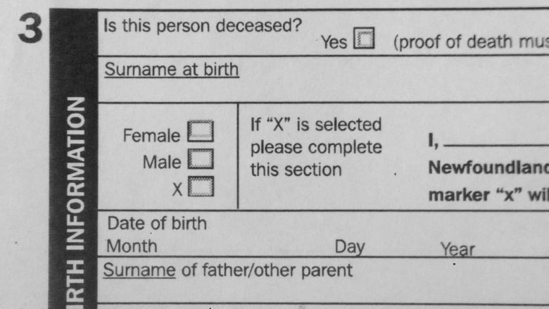 Nova Scotia to allow \u0027X\u0027 as sex option on birth certificates CBC News