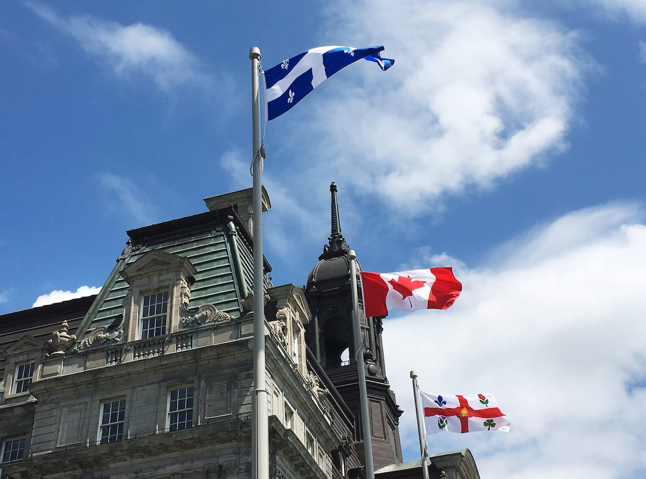 Quebec Montreal Montreal Accused Of Failing To Follow Quebec S Flag Protocol Cbc