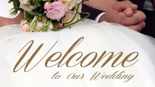 Church PowerPoint Template Welcome Wedding - SermonCentral