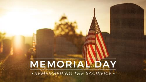 Church PowerPoint Template Memorial Day - Remembering The Sacrifice
