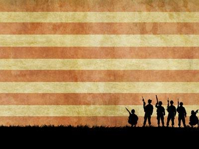 Church PowerPoint Template Veterans Day Soldiers - SermonCentral