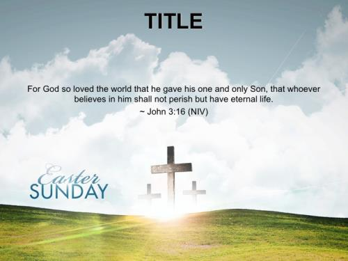Church PowerPoint Template Easter Hope Daisy - SermonCentral
