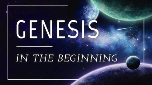Church PowerPoint Template Genesis In the Beginning
