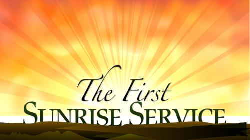 Church PowerPoint Template Easter Sunrise Service - SermonCentral