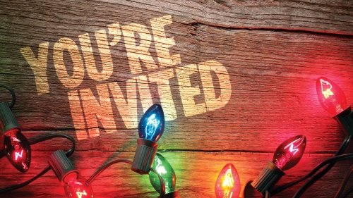 Church PowerPoint Template Invited Christmas Lights - SermonCentral