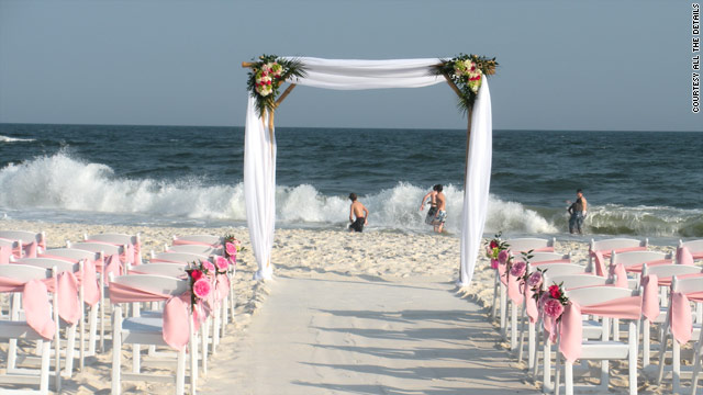 Beach weddings take a hit from disaster - CNN - wedding plans