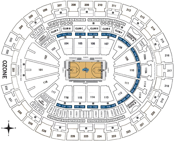 orlando magic seating chart awesome amway center map center seating