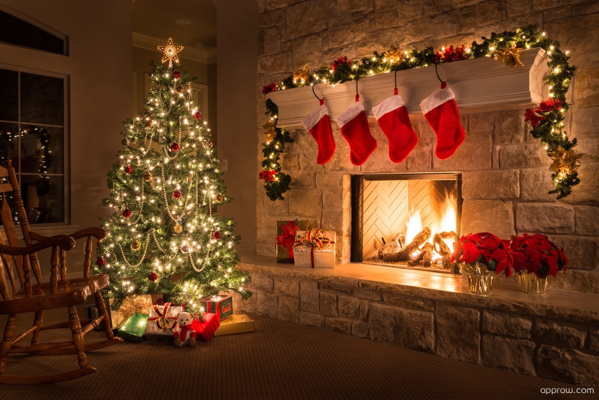 Christmas Fireplace Wallpaper Christmas Fireplace Wallpaper Download Christmas Hd Wallpaper