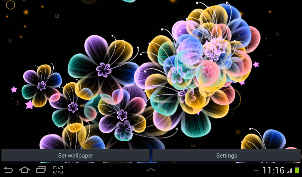 3d Iphone Wallpaper App Neon Flowers Live Wallpaper Free Android Live Wallpaper