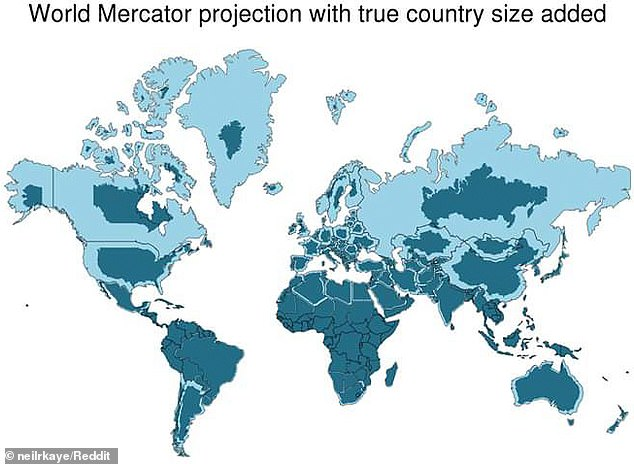 Our maps are all WRONG Graphic shows just how out of touch the most