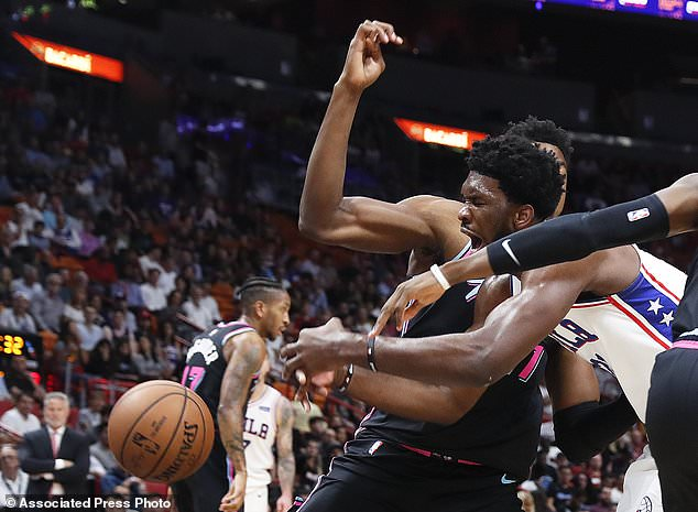 Embiid Scores 35 76ers Top Reeling Heat 124 114 Daily