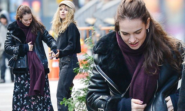 Lily James Nails Autumnal Chic In Floral Maxi Dress On