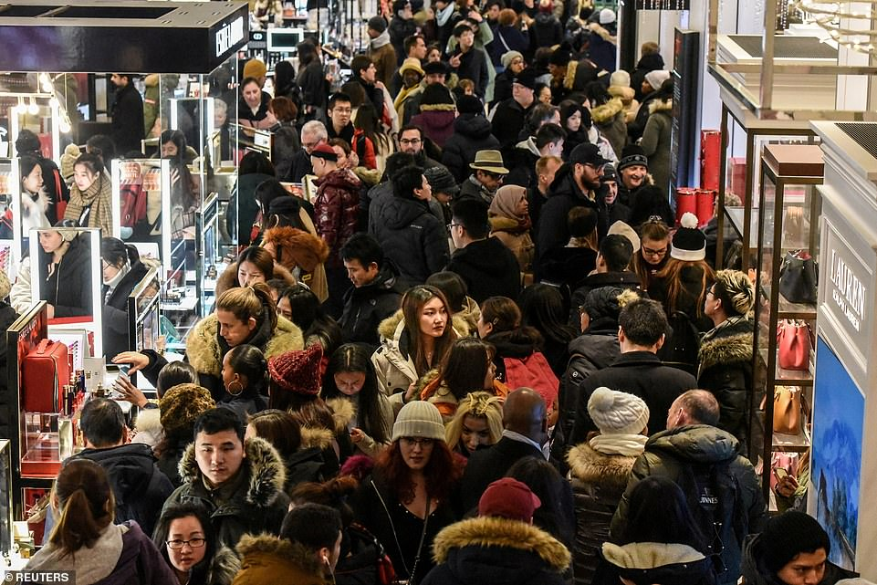 Black Friday Shoppers Are Out In Full Force On The Busiest