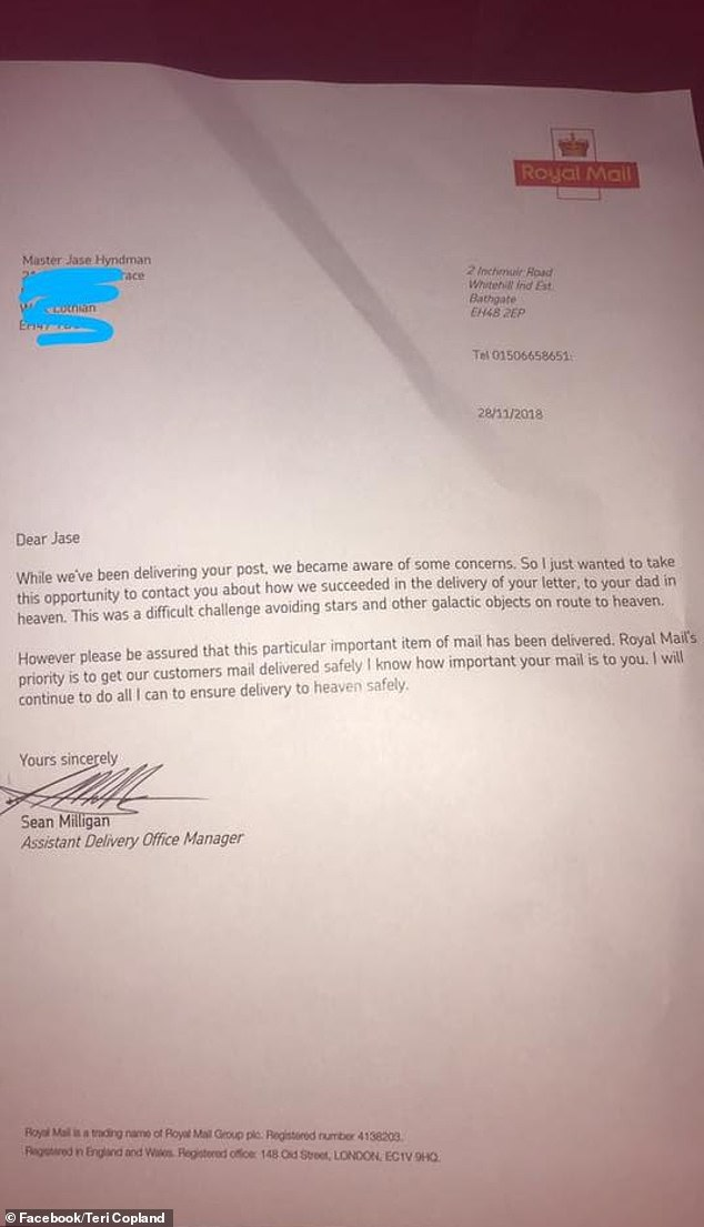 Royal Mail praised for telling little boy it delivered his letter to