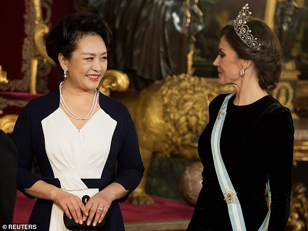 Queen Letizia Joins The Chinese President And The First