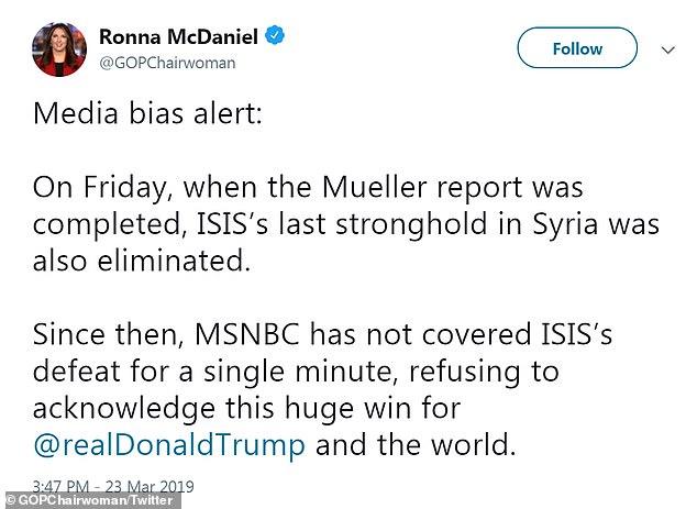 GOP chair slammed for criticizing MSNBC \u0027bias\u0027 on Syria on same day