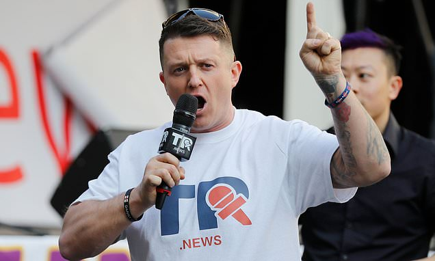Tommy Robinson sparks fresh race row Daily Mail Online