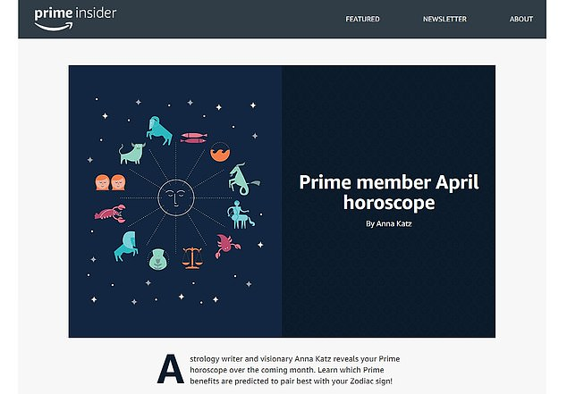 Amazon is now using horoscopes to target Prime users with