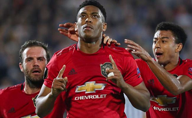 Partizan Belgrade 0 1 Manchester United Anthony Martial S First Half Penalty Secures Victory