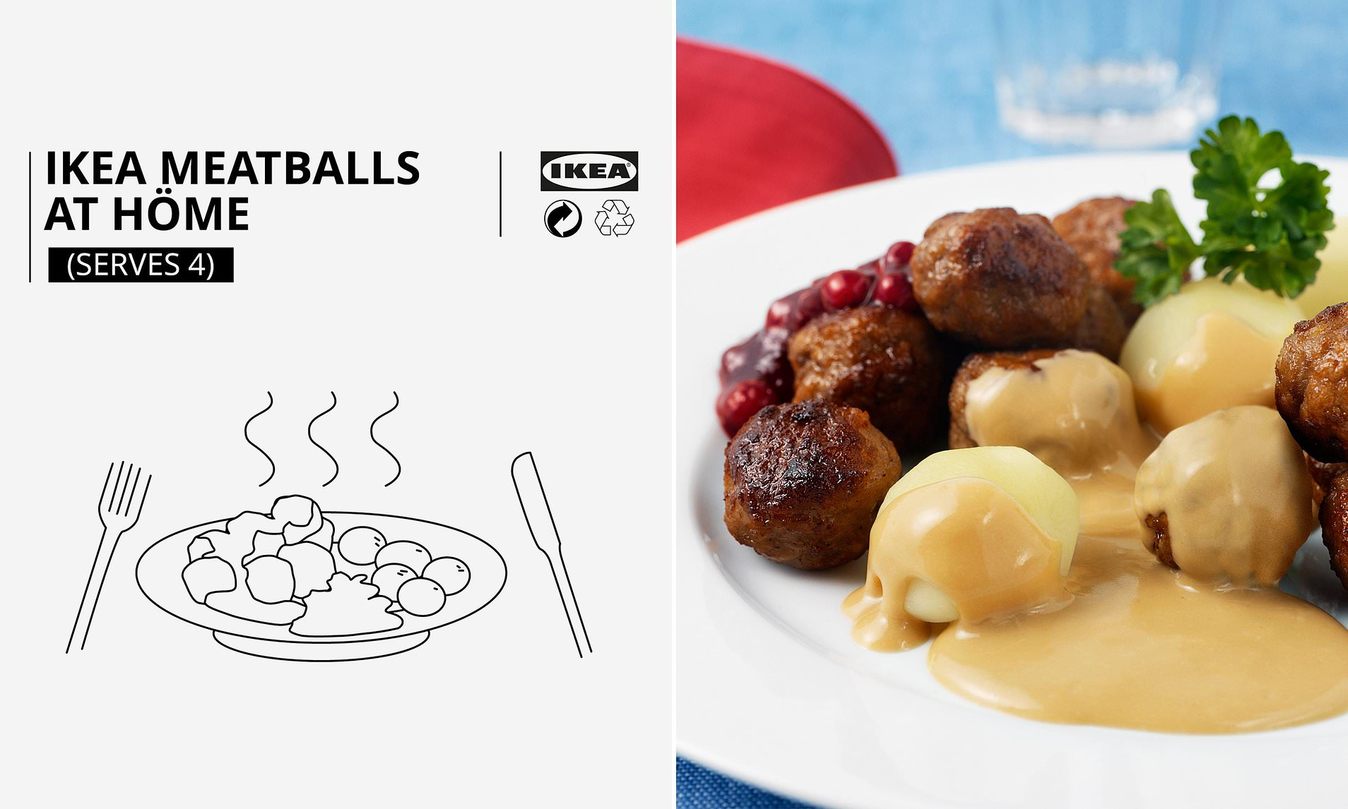 Ikea Shares Recipe For Its Famous Meatballs Daily Mail Online