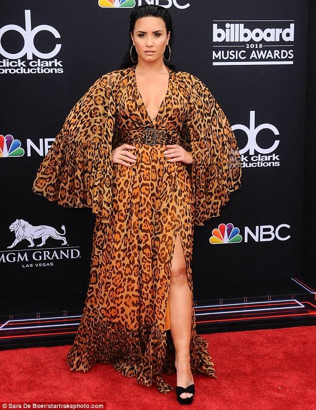 Billboard Awards Demi Lovato stuns in plunging leopard-print gown