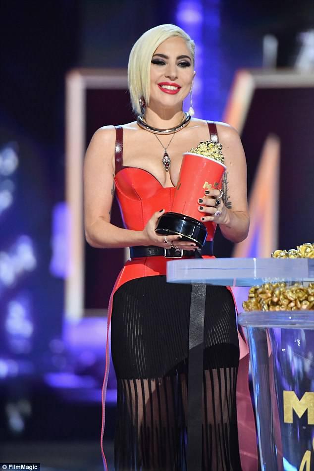 Lady Gaga thanks her \u0027little monsters\u0027 at MTV Movie  TV Awards