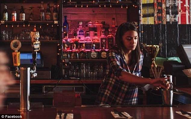Image result for alexandria ocasio cortez bartender