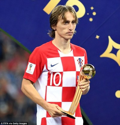 Luka Modric wins Golden Ball prize as he voted best player at World Cup | Daily Mail Online