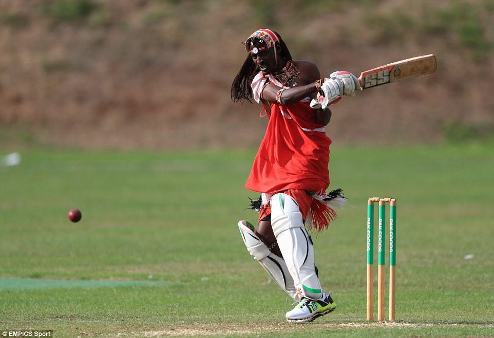 Maasai Warriors cricket team against English club sides Daily Mail