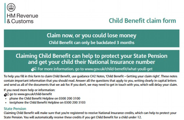 Government issues state pension alert to parents over child benefit
