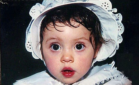 A childhood photo of Cady, who passed away after a tragic car accident and now could be recreated as a clone.