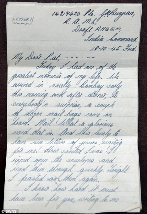 Couple whose wartime romance blossomed in 600 love letters - romantic love letters