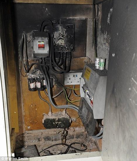 burned fuse box