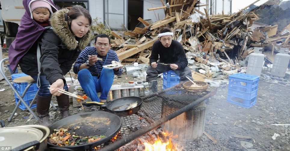 Japan Tsunami And Earthquake 30 Children Sit Silent In