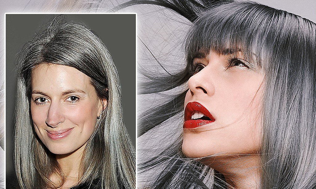 Hotel Gray 70 Why Are Today's Women Going Grey At 25? | Daily Mail Online