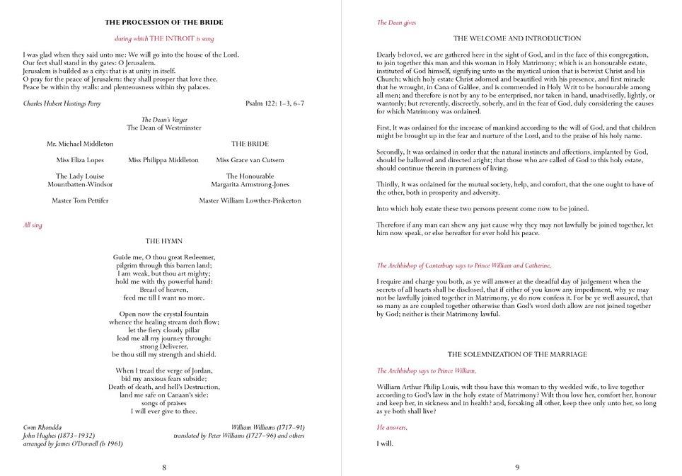 wedding service program - Funfpandroid