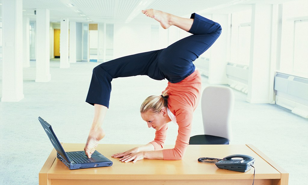 Office work-outs! How to exercise at your desk to stay healthy - office exercise