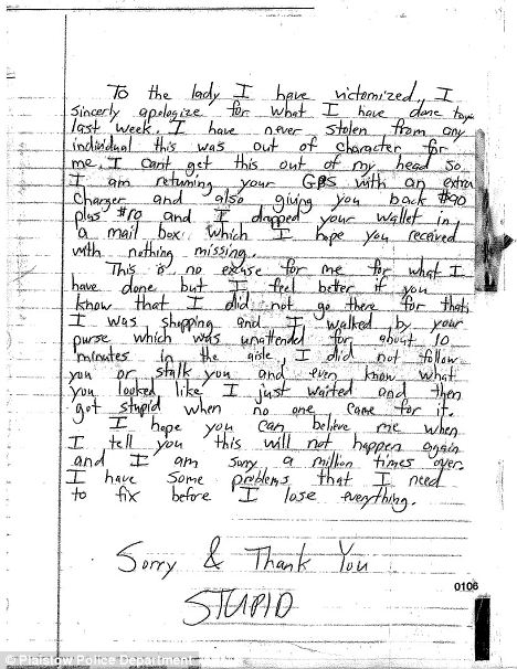 Apology Letter To Family