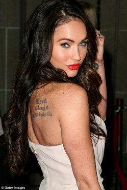 Fantasy figure: With her brown hair and light eyes, actress Megan Fox ...
