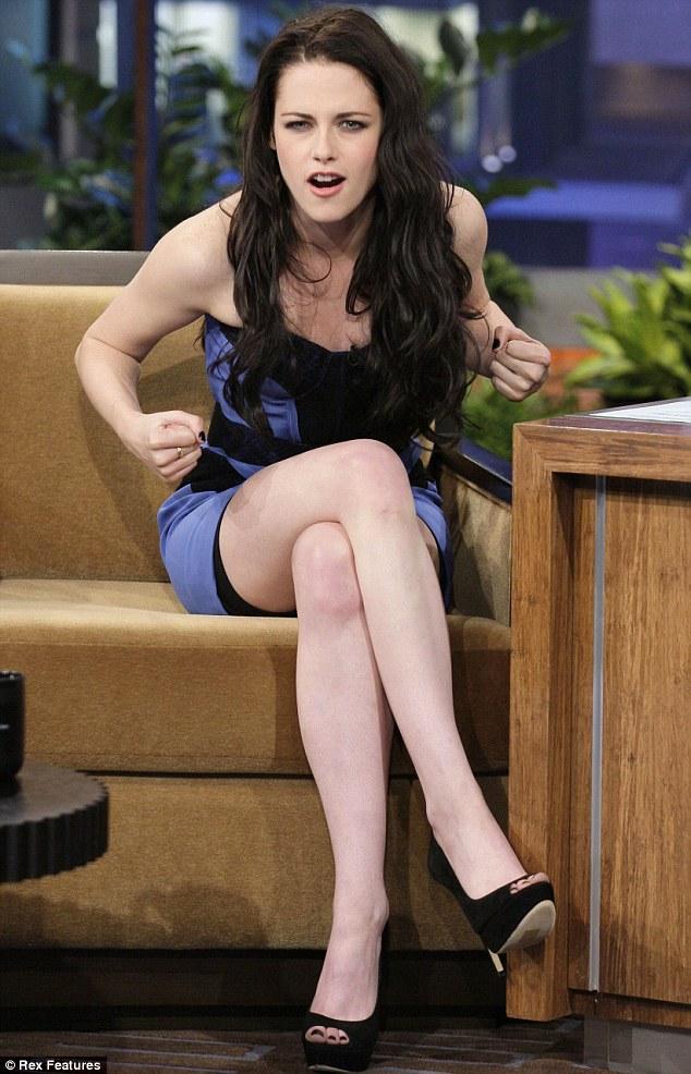 Kristen Stewart Twilight star wears spanx for public appearances in